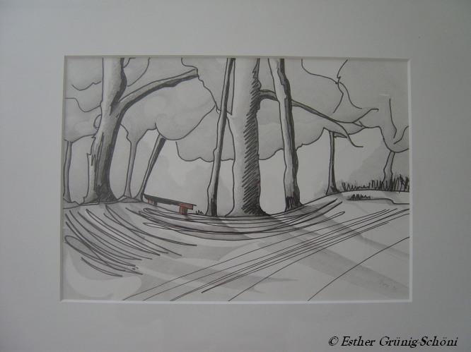 Bank im Wald