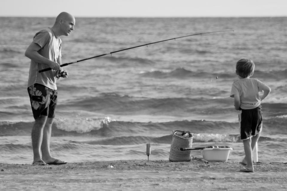Angler und Kind